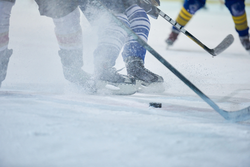 woman hockey skates