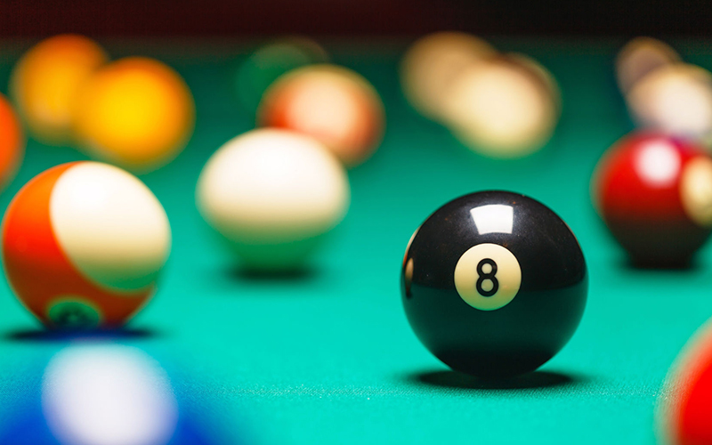 how to set up pool balls